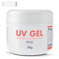 THE EDGE NAILS UV GEL - PINK 30g grams False Nail Tips Overlay Builder One Step