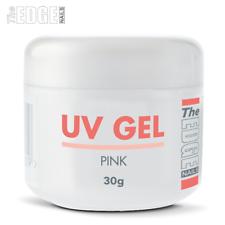 The Edge Nails Uv Gel-Rosa 30g gramos diseñador de superposición de consejos de uñas falsas un paso