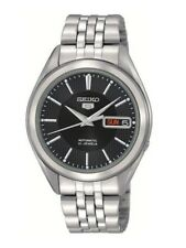 Seiko Automatic SNKL23 SNKL23K1 Men See Through Day Date Stainless Steel Watch