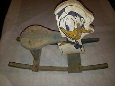 Antique Vintage 1930's Disney Donald Duck Childs Rocking Chair Rocker Horse