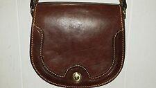 Unbranded Genuine Brown Leather Shoulder  Messenger Crossbody Bag Made in Italy
