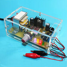 EU 220V DIY LM317 Adjustable Voltage Power Supply Board Kit With Case
