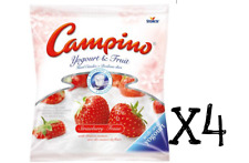 4 x Campino Yogourt & Fruit - Strawberry Flavour Hard Candy- 120g x4 bags FRESH