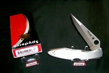 "Spyderco C07P Police Knife ""Plain Edge"" Tip up or Down Ambidextrous W/Packaging"