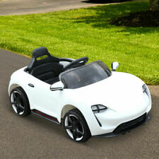 6v Kids Ride on Car Electric Poweredsportcar LED Headlight Remote White-