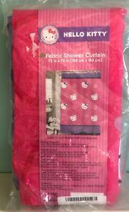 "Sanrio Hello Kitty 72"" x 72"" Fabric Shower Curtain"