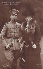 Patriotische Postkarte: Kaiserin Auguste Victoria mit dem Prinzen Joachim