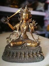 Antiques bodhi-sattva Manjushri Bronze Bodhisattva Kwan-yin Buddha Statue