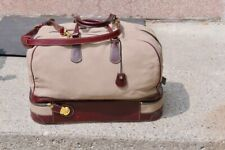 Holland Sport, Tan canvas annd Burgundy leather bag, Mulholland Brothers