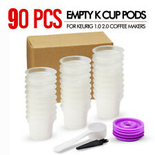 30-90X Empty K-Cup Cups Sealed Filter with Lids for Keurig Single Serve Coffee