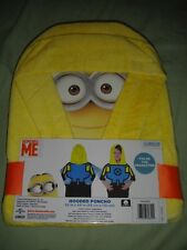 New Despicable Me Minion Yellow Hooded Poncho Towel