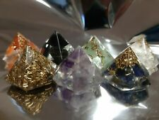 7 Piramidi ORGONITE 7 CHAKRA Energia Quarzo orgone wicca tower buster piramide