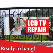 LCD TV REPAIR Advertising Vinyl Banner / Mesh Banner Sign Flag Service Plasma