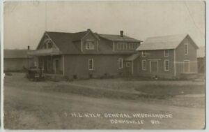 1920 H.L Kyle Store Downsville Osceola Wisconsin Real Photo Postcard RPPC