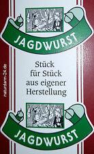 Kunstdarm, Kaliber 55/21, für Jagdwurst, mit Druck, 25 Stück