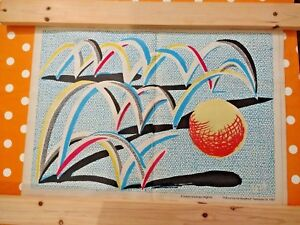 """DAVID HOCKNEY """"A Bounce for Bradford"""" (1987) - Limited Edition Plate Signed"""