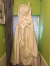 Ivory satin wedding dress, excellent condition, dry cleaned, size 12-14