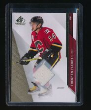 THEOREN FLEURY 2014-15 SP GAME USED GOLD JERSEY #77 CALGARY FLAMES