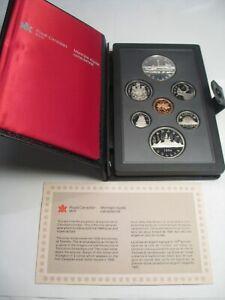 1984 CANADA Double Dollar Proof Set (Commem Dollar Silver) w/ Box & COA.  #16