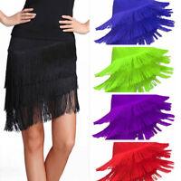 Lady Latin Tassel Fringe Skirt Dancewear Samba Salsa Dance Dress Ballroom Modern