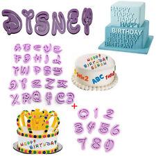 36tlg.Alphabet Buchstaben Disney Ausstechform Zahlen Fondant Marzipan Ausstecher