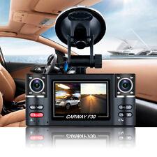 "Carway F30 Car DVR 2.7"" TFT LCD HD 1080P Rotated Dual Lens Dash Camera Vehicle"
