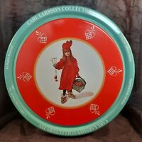 "Vintage Round Tin Carl Larsson 1989 Collector's Tin ""Iduna's New Dress"""
