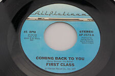 First Class:  Coming Back to You / This is It  [Unplayed Copy]