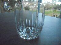 "Crystal High Quality Whiskey Glass Rocks Glass 3 3/4"" Tall"