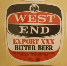 OLD AUSTRALIAN BEER LABEL, SA BREWING Co WEST END BITTER BEER 370ml