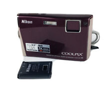 Nikon COOLPIX S60 10.0 MP Digital Camera - Burgundy
