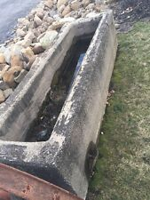 Dated 1943 Antique Cast Stone Water Trough