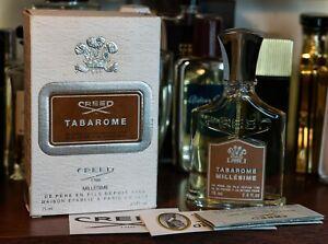 Genuine vintage Tabarome by Creed Millesime 2.5oz 75ml Batch 2010