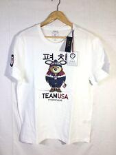 NWT Ralph Lauren Olympics 2018 Sz L Men's Polo Bear White Short Sleeve T Shirt