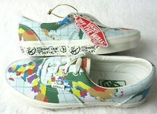 Vans Womens Era Save Our Planet Classic White Global Peace Skate shoes size 7