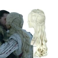 Daenerys Targaryen Wig Cosplay Hair Game of Thrones Dragon Mother Hair Synthetic