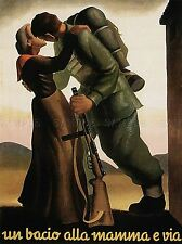 PROPAGANDA WWII MOTHER SON KISS LARGE POSTER ART PRINT BB2813A