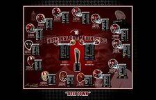 16 ALABAMA CRIMSON TIDE FOOTBALL NATIONAL CHAMPIONSHIPS S/N PRINT