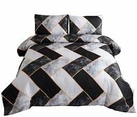 Marble Geometry Comforter Bedding Set Man Woman Quilt Pillow Shams Queen Size