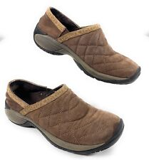 Merrell Encore Quilted Bracken Slip On Loafer Clog Nubuck Brown Shoes Womens 6.5