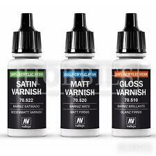 Vallejo Varnish Gloss Matt Satin Acrylic Resin Model Airbrush Paint 17ml Bottle