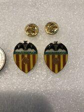 Nice Lot of 2 Valencia Cf Italy Soccer Football Team Lapel Pin Free Ship in Usa