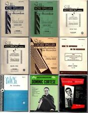 9 Vintage ACCORDION Music Instruction Books, Sickler Theory Lessons, etc.