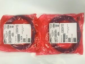QTy (4) 10m LC-LC 50/125 Duplex Multimode OM4 Fiber patch Cable - Aqua DELL EMC