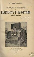 FINZI_ELETTRICITA'_MAGNETISMO_ELETTROCHIMICA_ENERGIA_MAGNETISMO TERRESTRE_HOEPLI