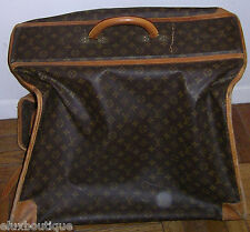 LOUIS VUITTON Rolling LUGGAGE Vintage Monogram LV Suitcase GARMENT BAG on Wheels