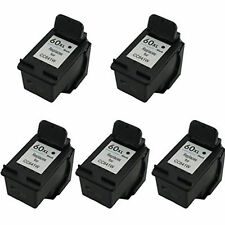 5x HP 60XL 60 XL Black CC641W 33% More Reman Ink Cartrtridge Deskjet D2500