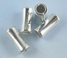 24pcs Tibetan Silver Hole: 3mm Tube Smooth Spacer Beads 5x10.5mm