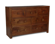 BEDROOM FURNITURE DARK DAKOTA SOLID MANGO EXTRA LARGE DRAWERS (11N)