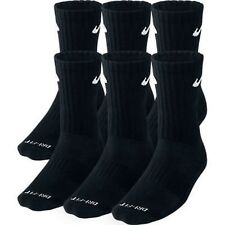 NWT Mens Nike Dri-Fit Crew 6-Pack Socks SX4445-001 Black dry Cushioned Large L